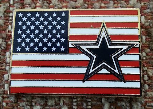 DALLAS COWBOYS UNITED STATES FLAG LAPEL PIN