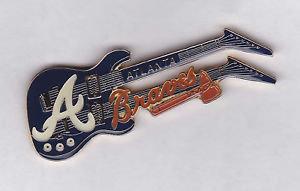 ATLANTA BRAVES Double Neck Guitar Lapel Pin