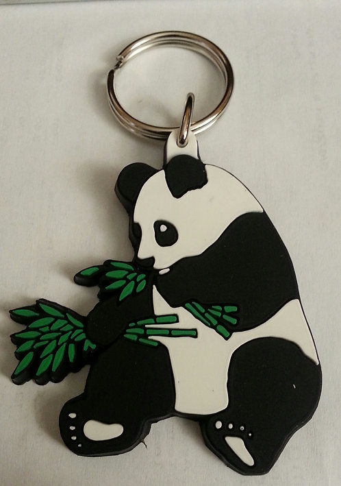 PANDA RUBBER KEY RING