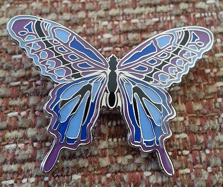 Purple & Blue BUTTERFLY PIN