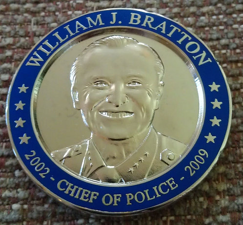 LAPD WILLIAM J. BRATTON CHIEF OF POLICE COIN