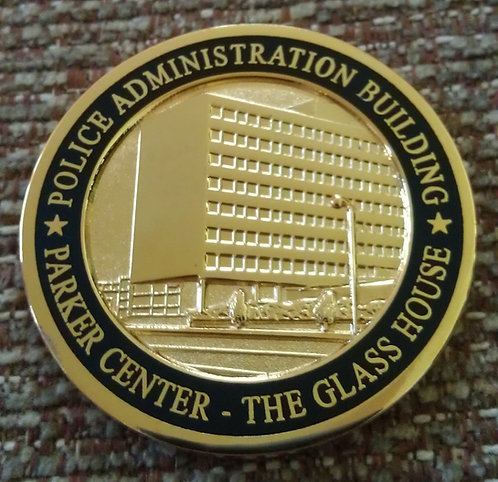 LAPD PARKER CENTER THE GLASS HOUSE Challenge Coin