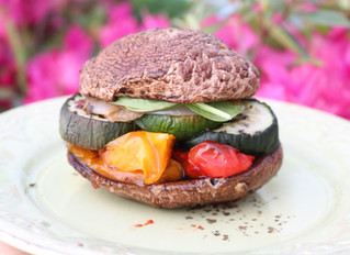 Roasted Veggie Portobello Burger