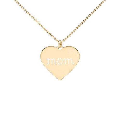 Revenue - Engraved Mom Heart Necklace