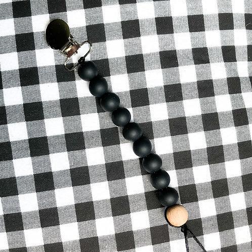 Black Pacifier Clip