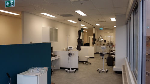 Commercial Health clinic at its last stage Commercial Painters painting company in Calgary