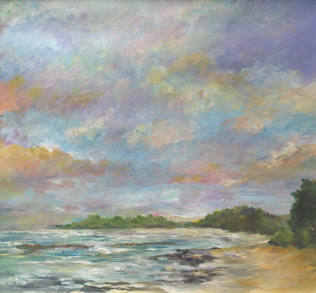 Hope Brannon, North Shore Ohaua, Hawaii, Acrylic on Paper, 24 x 25, $1900