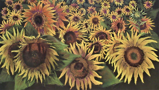 Kathy Atchison, Field of Gold, Pastel, 1