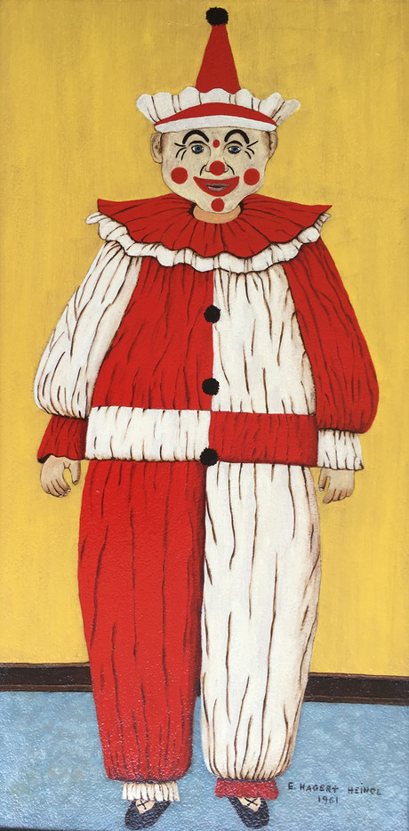 Elise H. Hindl, Clown, Oil, 10 x 20, $10