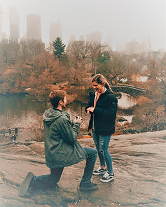 Marriage proposal in Central Park New York
