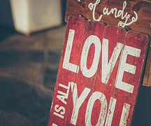 Love you sign for prenuptial agreements