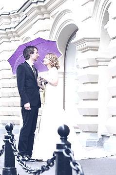 Prenuptial Agreement Couple with umbrella