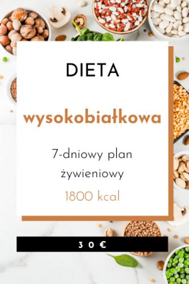 Dieta Wysokobiałkowa 1800kcal
