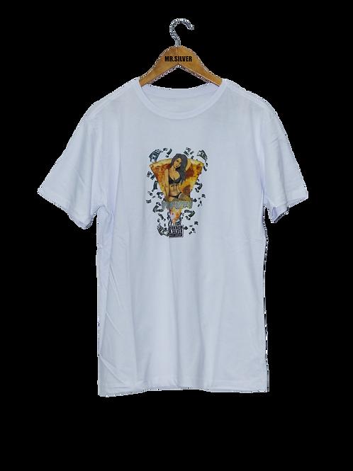 Camiseta Mr.Silver  Comics -Branca