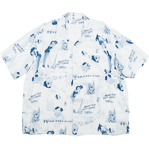 BLONDES PREFER PC ALOHA SHIRT	WHITE