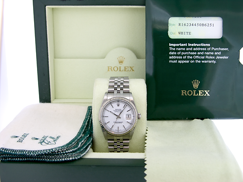Rolex 16234 Datejust - White Dial on Jubilee