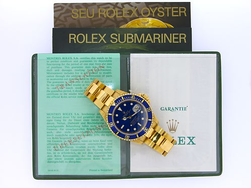 Rolex 16618 Submariner Date Gold with Blue Dial