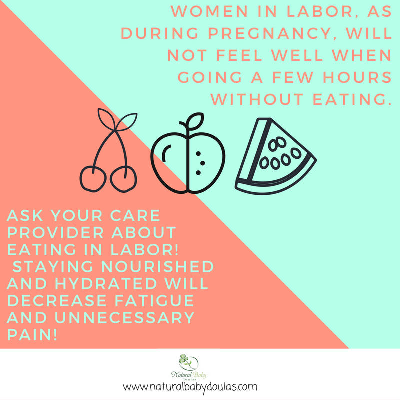 Eat during labor