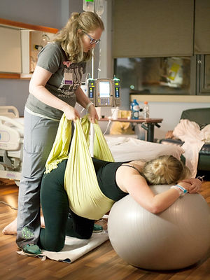 Jessica with doula client