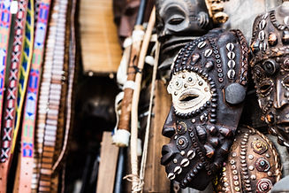 Traditional Trival Carved African wooden Masks
