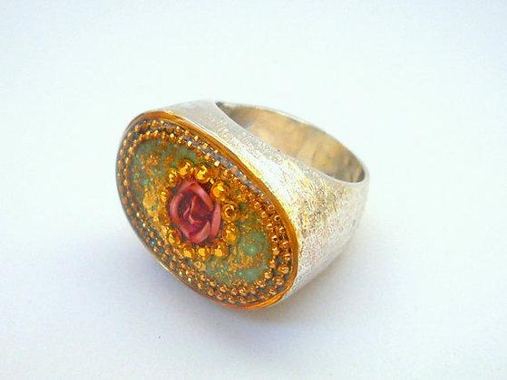 Silver ring Rose ring