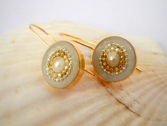 Pearl Bridal earrings Gold filled earrings