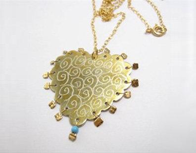 heart shape pendat necklace
