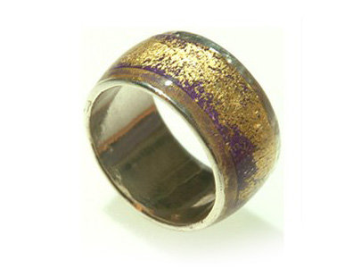 Purple gold ring Sterling silver ring