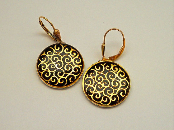 Golden spirals earrings