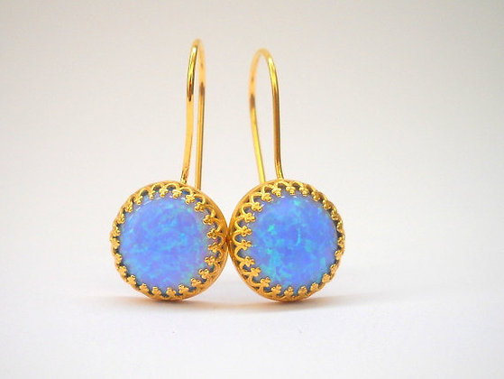 Blue Opal Gold filled earrings