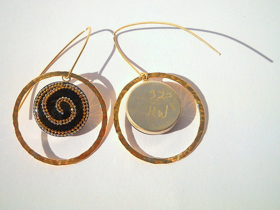 Ethnic spiral earrings