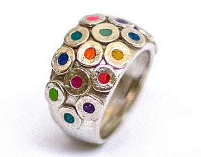 Colorful circles ring