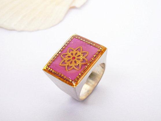 Pink Square ring