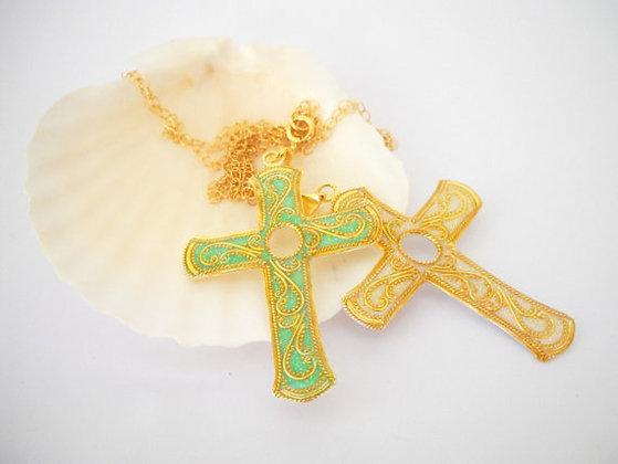Silver cross, golden cross, white cross