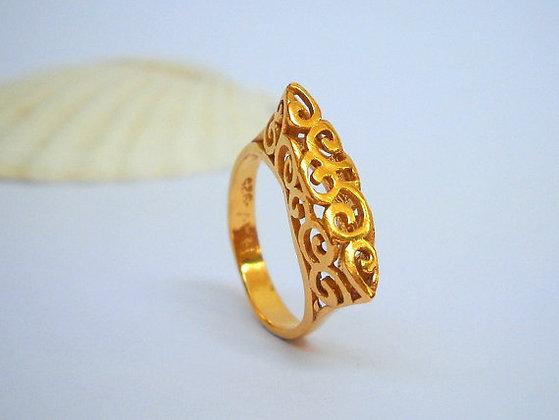 Gold Spirals ring