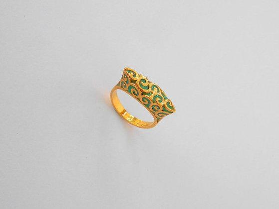 Green Spirals ring