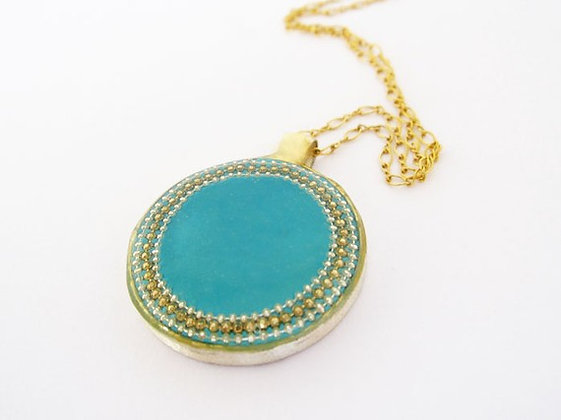 Blue Oval pendant