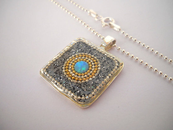 Square Opal pendant