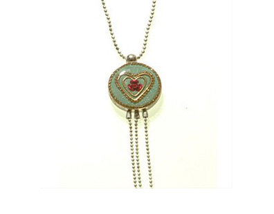 Heart and rose pendant necklace