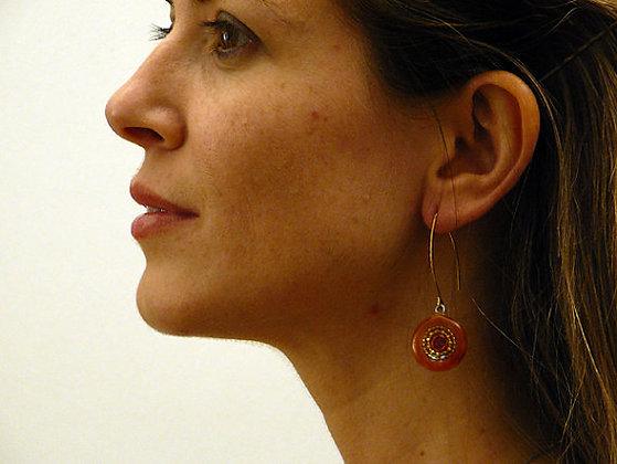 Oxidized silver spiral earrings