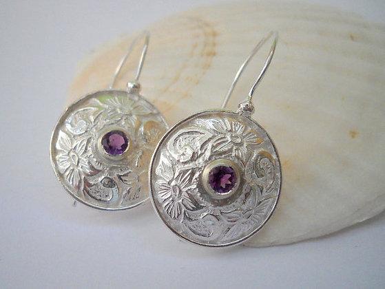 Opal earrings with short hooks