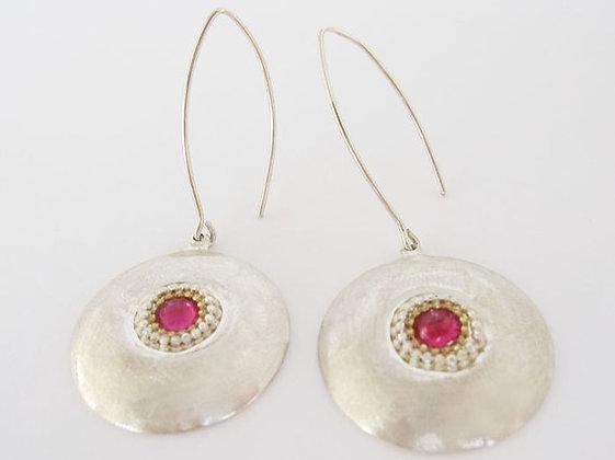 Garnet Dome earrings