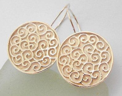 Silver spirals earrings