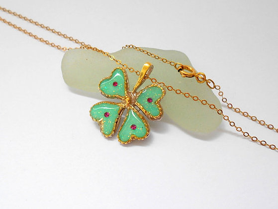 Green Clover necklace