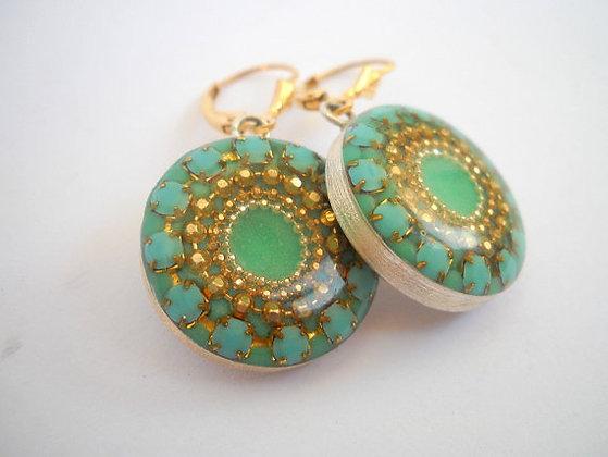 Mint Green Sterling Silver earrings