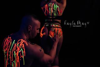 Couples Boudoir Neon Paint YMM