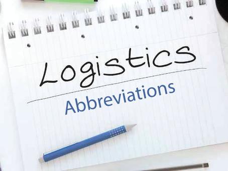 Abbreviations in Logistic