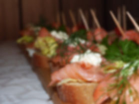 Canapes bei einem Catering Fingerfood