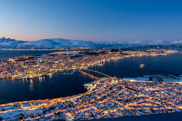 Twillight over  Tromso seen from Floya H