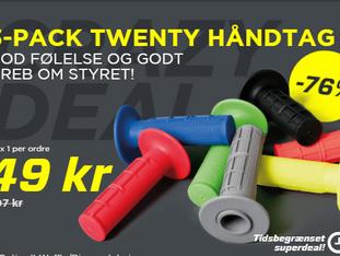 Sidste chance! 3-pack Twenty håndtag for kun 49 kr! -76%